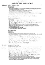 Abap Developer Resume Samples Velvet Jobs