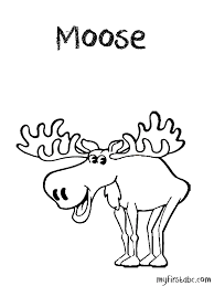 Small Picture Moose Coloring Page My First ABC