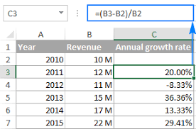 Add Cagr Line To Excel Chart Calculate Cagr In Excel Compound Annual Growth Rate Formulas