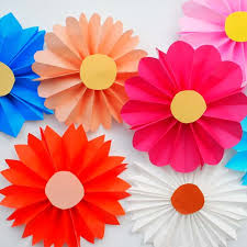 How To Make Flower With Paper Folding How To Make Paper Flowers The Easiest Way Diy Candy