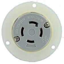30 amp outlet nema l14 30 30 amp 125 250v 3 pole 4 wire flanged outlet culus