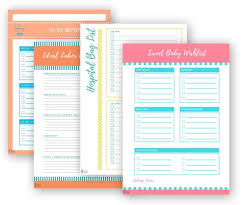 New Baby Checklist Bundle Printable Hospital Packing List Etsy