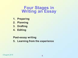 essay assignment writing planning to editing ppt video online  four stages in writing an essay