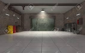 garage interior. Auto Repair Garage Interior 3d Render Stock Photo - 18554719