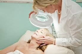Skin Analysis During A Professional Facial