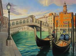 city handmade livemaster handmade the painting the rialto bridge venice city handmade