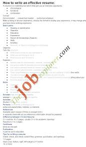Effective Resume To Write A Resume 92