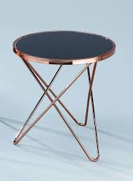 aspect porto round sidecoffeeendlamp table metal copper