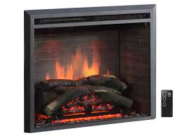 armes 33 black 750 1500w western wall mount electric fireplace insert