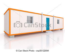 office cabins. Portable House And Office Cabins - Csp35122094