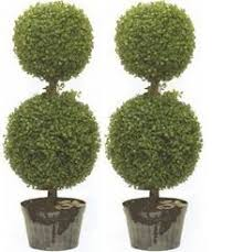 50cm Light Green Artificial Topiary Boxwood Ball Tree  DongyiArtificial Topiary Trees With Solar Lights