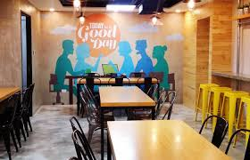 cafeteria of suysing corporation suysing wanted the artwork to feature quotes that could inspire and lighten the mood of their employees while eating  on cafe wall art design with luis de vera graphic designer cafeteria wall art for suysing