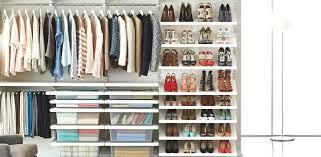 wall to closet ideas custom shelving organizer systems d 3 inspiration slide walk in white decor