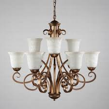 excellent shabby chic lighting chandelier 28 vintage 9 light glass shade two tiered svlt02291647372 6