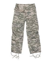 Rothco Pants Size Chart Rothco 3386 Womens Camo Vintage Paratrooper Fatigue Pants