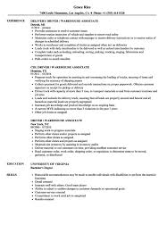 Cover Letter Arehouse Resume Sample Driver Warehouse Associate ...