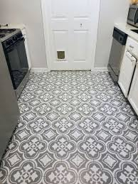 how to paint linoleum flooring a great way update your space on budget painted floors floor stencils black and white stencils n70 stencils