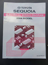 toyota sequoia 2004 toyota sequoia electrical wiring diagram service manual oem factory book