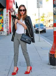 sydne style how to wear a graphic tee holy chic old navy chanel classic flap bag red lips pointy bow stis leather jacket