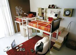 space saving furniture design. Fabulous Space Saving Bed Design Idea For Small Room With Metal Frame  Also Red Rugs Space Saving Furniture Design