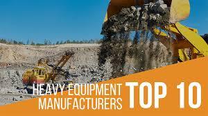 Heavy Equipment Key Chart Top Ten Heavy Equipment Manufacturers 2017 2018 Iseekplant