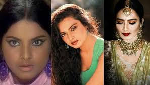 the glorious transformation of rekha from a full figured age actress to a graceful diva