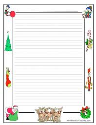 Christmas Note Template Writing Paper Template Christmas Letter Note Themed