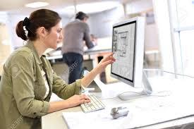 Designer Stock Photo Industrial Designer Working On Desktop Computer
