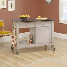 Small Picture Sauder Original Cottage Mobile Kitchen Island Cobblestone