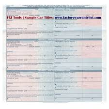 Fake Car Title Templates My Vehicle Title What Does A Car Title Look Like