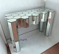 mirrored glass bedroom furniture china diamond design console table modern mirror supplier sets black gl