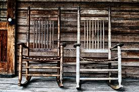 two old wooden rocking chairs stock photo image of wood rustic 68947078