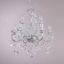 chrome crystal effect glass chandeliers