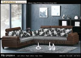 Lovinna L Shape Fabric Sofa  B Inside L Shaped Fabric Sofas (Image 11 of