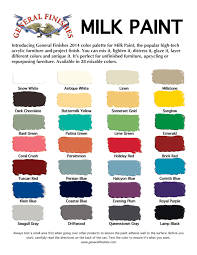 Kitchen Paint Colour Chart The New General Finishes Milk Paint Color Chart Painting