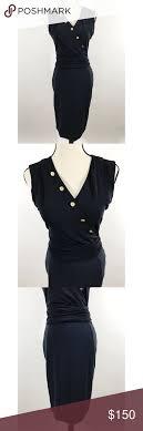 Escada Size Chart Escada Navy Blue Mid Length Dress Size 36 Per Escada Size