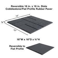envirotile reversible 16 in x 16 in x 0 75 in slate brick face