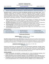 Logistics Resume Sample Operations Manager Example Supply Pdf