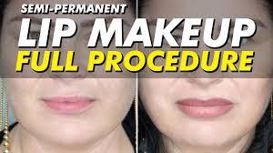 semi permanent lip color permanent makeup before after eye design new york