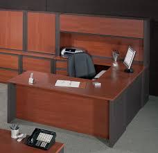 full size of desk workstation bestar prestige u shaped desk and hutch raw office