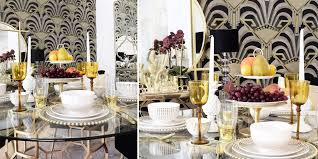 Stilvolle Tisch Essentials In Gold Weiß Instashop