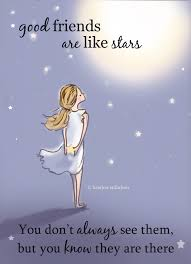 good friends are like stars miss you card friendship card bon voyage card miss you card