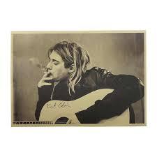 2018 <b>New Nirvana</b> lead singer <b>Kurt Cobain</b> Kraft Paper Music Poster ...