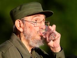 Former Cuban leader Fidel Castro drinks water during a meeting with students at Havana&#039. Former Cuban leader Fidel Castro drinks water during a meeting ... - former-cuban-leader-fidel-castro-drinks-water-during-meeting-students-havana039s-university