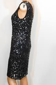 Pisarro Nights Black New One Shoulder Sequin Short Cocktail Dress Size 10 M 57 Off Retail