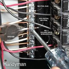 breaker box safety how to connect a new circuit the family handyman ground