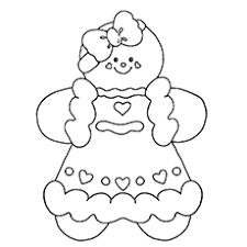 Gingerbread Girl Coloring Page Free Coloring Pages On Art Coloring