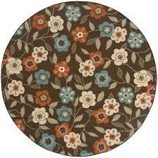 oriental weavers montego 7 10 ft round indoor outdoor rug 2267d