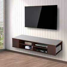 homcom floating tv stand cabinet wall mounted entertainment center console 1 of 8free