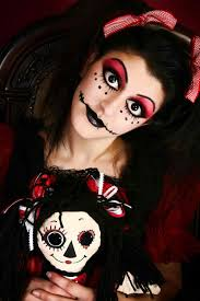 on a budget inspiration goth doll makeup